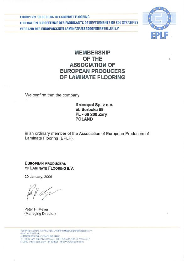 EPLF-歐洲超耐磨地板生產商協會會員