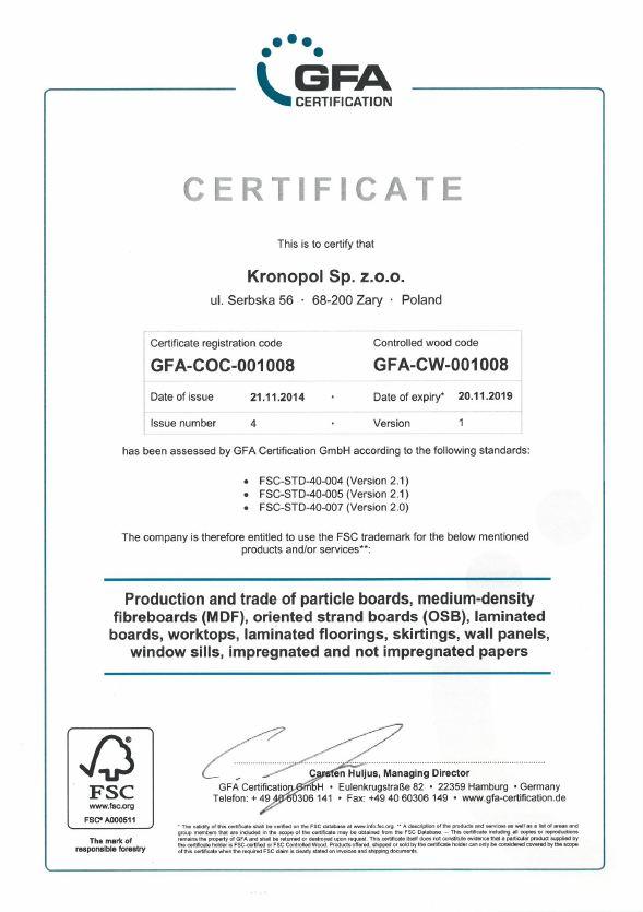 GFA-森林管理認證