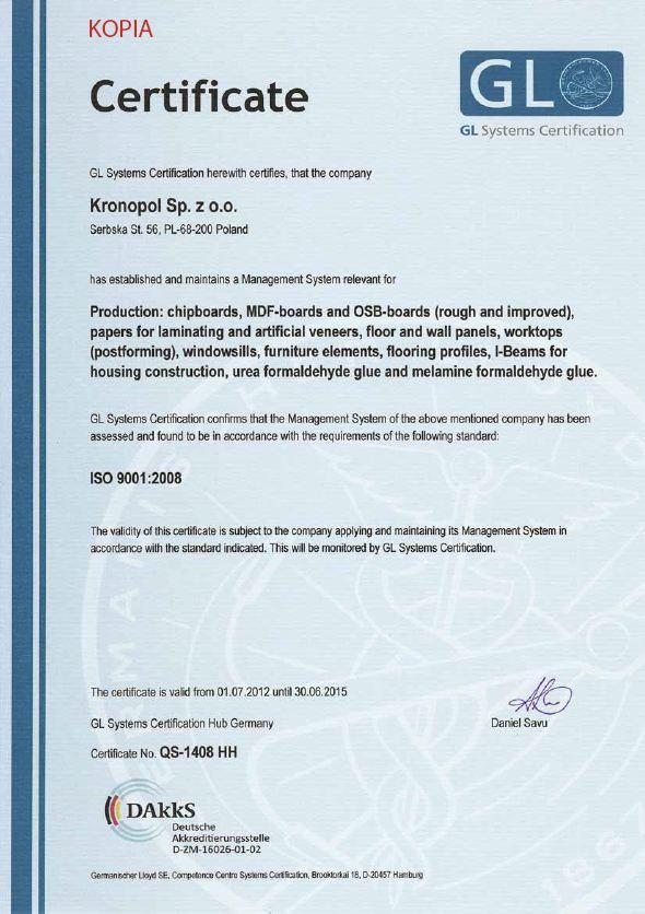 GL-符合ISO9001-2008質量管理認證